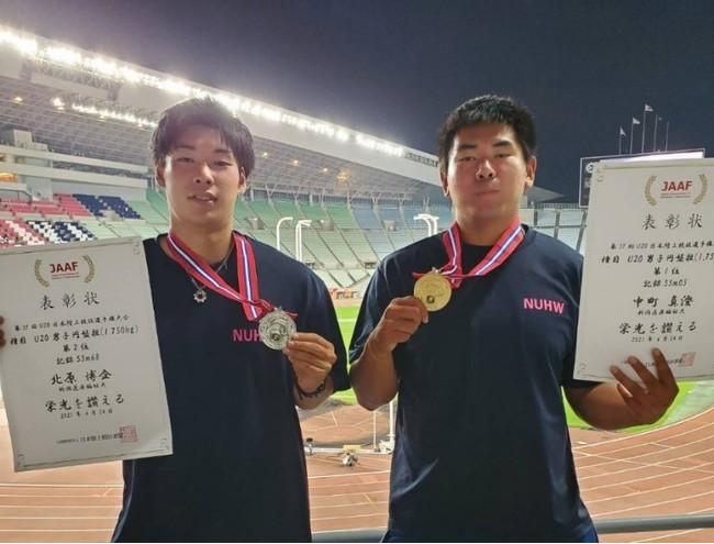 北原博企選手(写真左)、中町真澄選手(写真右)