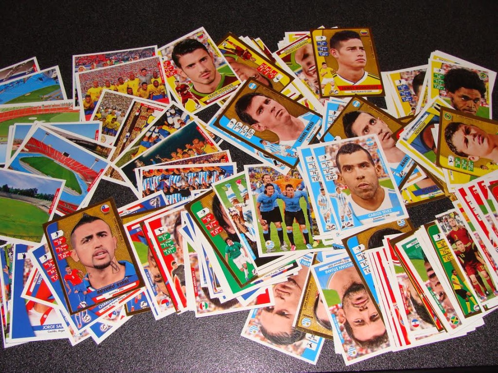 Sticker of Superstar footballers in Copa America