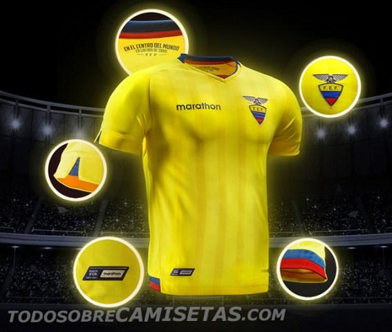 Equador Home Kit for Copa America 2016