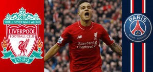 PSG bid £46 million for Liverpool Brazilian midfielder Philippe Coutinho