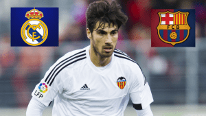 Real Madrid, Barca and Man Utd emerged to sign Valencia midfielder Andre Gomes