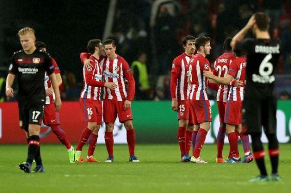 Atletico Madrid defeat Bayer Leverkusen