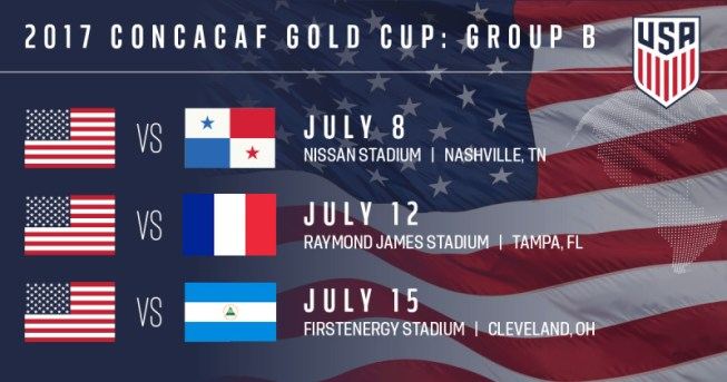USA in gold cup