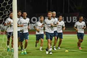 Argentina football team reaches Singapore for the friendly