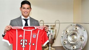 James Rodriguez joins Bayern Munich on a loan deal of two years