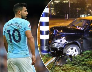 Man City sensation Aguero is out for 6 weeks after involved in car accident