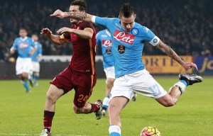 Napoli is the only team to keep 100% winning record against Roma