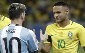 Argentina and Brazil star help the hungry children with their World Cup goal