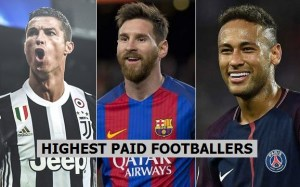 Top 20 highest paid footballers salary from Club 2018-19