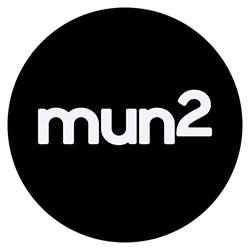 """NBCUNIVERSAL LOGOS -- Pictured: """"mun2"""" Black Logo  -- (Photo by: mun2)"""