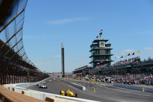 Indianapolis, IN - May 25, 2014 - Indianapolis Motor Speedway: Helio Castroneves (3) competing in the 98th Indianapolis 500 (Photo by Phil Ellsworth / ESPN Images)