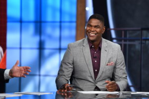 Bristol, CT - September 20, 2015 - Studio W: Keyshawn Johnson on the set of Sunday NFL Countdown (Photo by Joe Faraoni / ESPN Images)