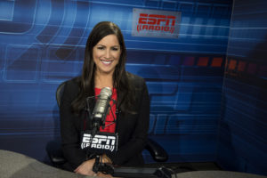 Bristol, CT - December 2, 2015 - Radio Studio: Portrait of Sarah Spain (Photo by Joe Faraoni / ESPN Images)