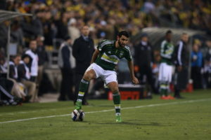 Columbus, OH - December 6, 2015 - Mapfre Stadium: Diego Valeri (8) of the Portland Timbers during the 2015 MLS Cup championship game (Photo by Allen Kee / ESPN Images)
