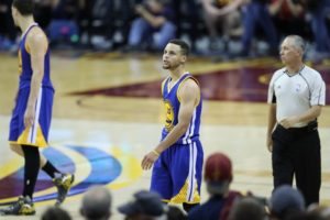 Cleveland, OH - June 10, 2016 - Quicken Loans Arena: Stephen Curry (30) of the Golden State Warriors during game 4 for the 2016 NBA Finals (Photo by Allen Kee / ESPN Images)