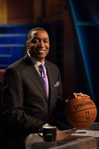 Bristol, CT - May 15, 2014 - Studio E: Isiah Thomas on the set of First Take (Photo by Joe Faraoni / ESPN Images)