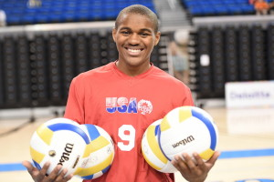 Los Angeles, CA - July 30, 2015 - Easton Stadium: Portrait of Dalvin Kellar of the United States volleyball team during the 2015 Special Olympics World Summer Games (Photo by Scott Clarke / ESPN Images)