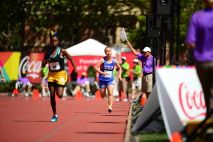 Los Angeles, CA - July 25, 2015 - Loker Stadium: Olivia Quigley of team USA  participating in track & field during the 2015 Special Olympics World Summer Games (Photo by Kohjiro Kinno / ESPN Images)
