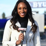Maria Taylor as a sideline reporter