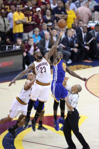 Cleveland, OH - June 10, 2016 - Quicken Loans Arena: LeBron James (23) of the Cleveland Cavaliers and Draymond Green (23) of the Golden State Warriors during game 4 for the 2016 NBA Finals (Photo by Allen Kee / ESPN Images)