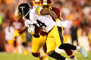 Landover, MD - September 12, 2016 - FedExField: Antonio Brown (84) of the Pittsburgh Steelers during a regular season Monday Night Football game (Photo by Phil Ellsworth / ESPN Images)