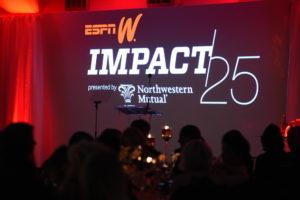 New York, NY - February 25, 2016 - Three Sixty: The 2016 espnW IMPACT25 Gala (Photo by Joe Faraoni / ESPN Images)