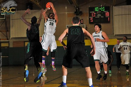 Shoreline CC men's basketball team hosts its divisional rival Edmonds CC in a NWAACC North contest
