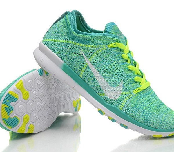3b57624030f7 NEW RELEASE NIKE FREE FLYKNIT 5.0 KNIT VAMP MENS RUNNING SHOES GREEN ...