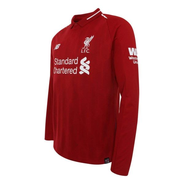 the latest 31a94 16782 2018-2019 Liverpool Home Long Sleeve Shirt