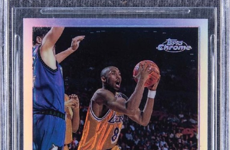 Kobe Bryant Topps Chrome Refractor Rookie Card Sells for Nearly $1.8 Million