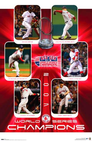 Boston Red Sox World Series 2007 CommemorativePoster