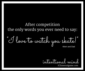 after competition the only words you ever need to say: I love to watch you skate!
