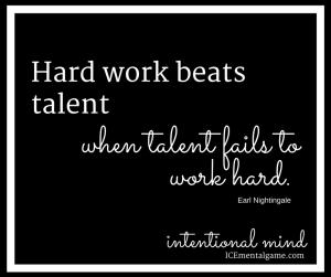 hard work beats talent when talent fails to work hard