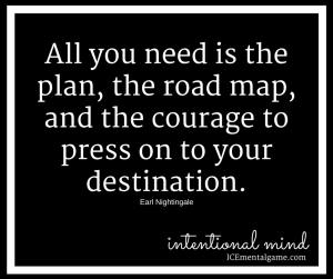 all you need is the plan, the road map and the courage to press on to your destination