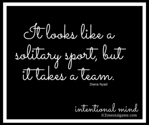 It looks like a solitary sport, but it takes a team