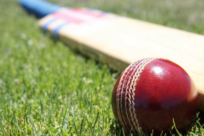 Photo courtesy of Reuters (bat and ball used in conjunction with a wicket during the game of cricket)