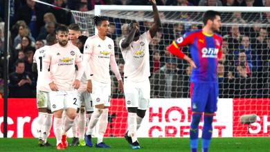 Photo of Lukaku ends goal drought with a brace in comfortbale United win at Palace