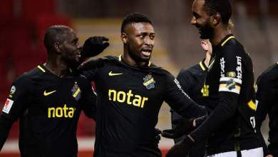 Photo of Obasi scores two to fire AIK Solna to Swedish Cup semifinal