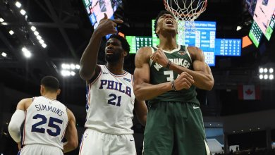 Photo of VIDEO: Giannis dunks on Simmons, calls him a f**king baby; 10 secs later Simmons put it back on him