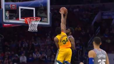Photo of Watch as Giannis blocks Embiid four times on the day he matches Jordan's 10745 days record
