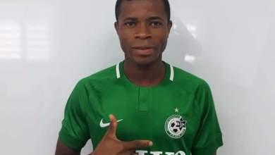 Photo of Ikouwem Udoh happy to join 'big club' Maccabi Haifa from Enyimba