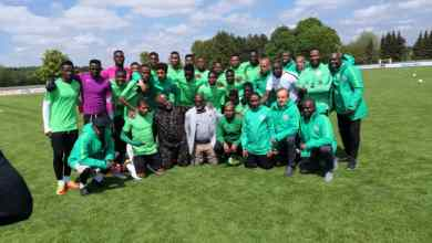 Photo of U20 World Cup: NFF Chieftains, Rohr Visit Flying Eagles In Camp