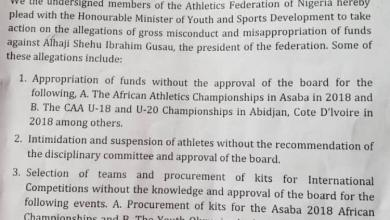 Photo of Athletics Federation Ask Ibrahim Gusau To Step Aside
