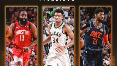 Photo of George, Harden and Giannis named NBA MVP finalists