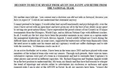 Photo of Asamoah Gyan Announces International Retirement