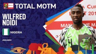 Photo of Nigeria vs Burundi: Ndidi beats Aina and Ighalo to the man of match award