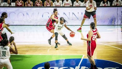 Photo of Evelyn Akhator posts double-double as D'Tigress annihilate Tunisia 75-26 Afrobasket opener