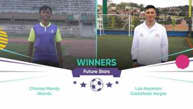 "Photo of Chinasa Ukandu from Nigeria, Luis Alejandro Castañeda from Colombia win WorldRemit, Arsenal ""Future Stars"" coaching programme"