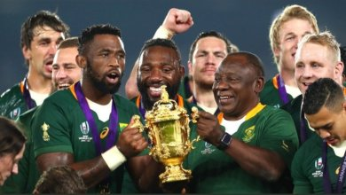 Photo of Rugby World Cup 2019: Federer sends video message to victorious Kolisi and Springboks