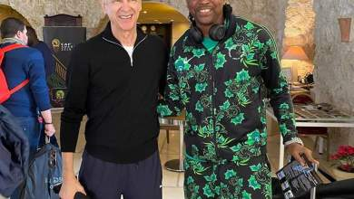 Photo of Kanu Nwankwo and Arsene Wenger reunites again